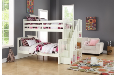 WHITE BUNK BED 1